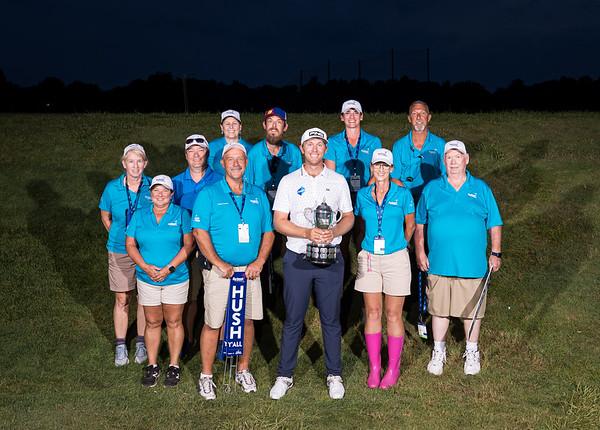 Volunteers with the winner, 7.18.21
