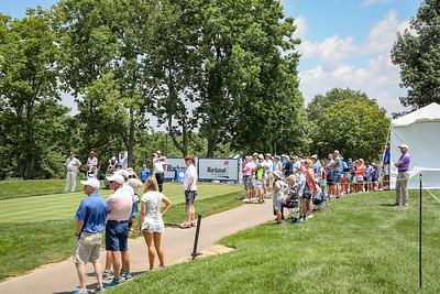 Good crowds at the first tee.