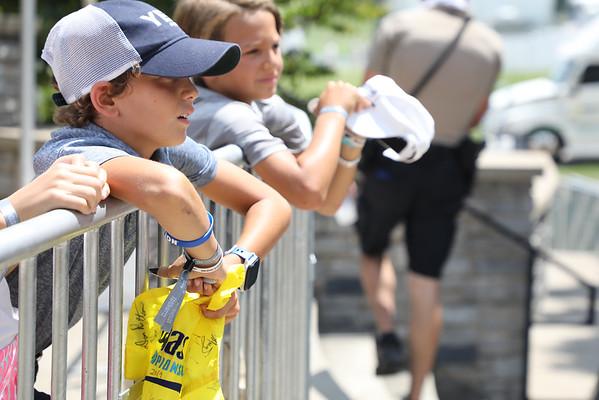 Children waiting for autographs