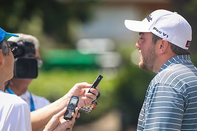 Cullan Brown chats with the media after his round, 7.20.19