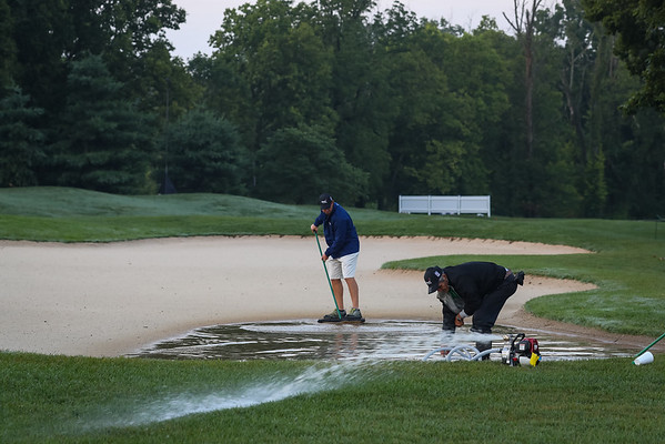 Thursday morning scene at the Barbasol Championship.