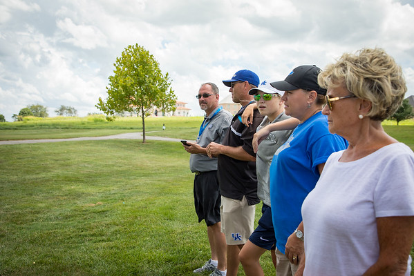 Cullen Brown's family at the par 3 shoot out.