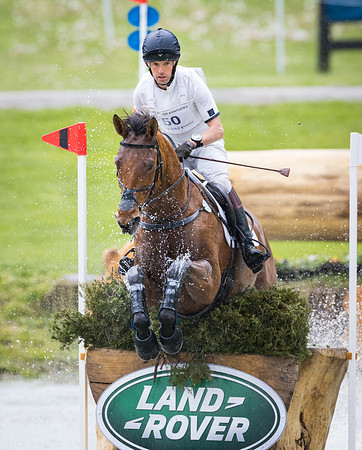 Harry Meade & Superstition in the Cross Country portion of the Land Rover Ky 3-Day Event, 4.24.21.