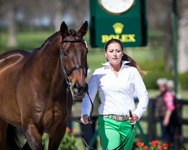 Relentless Pursuit, and Dana Widstrand, at the Rolex Three-Day Event 4.23.14.