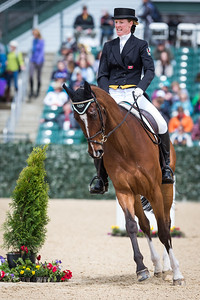 Foxwood High, and Selena O'Hanlon, at the Rolex Three-Day Event 4.25.14.