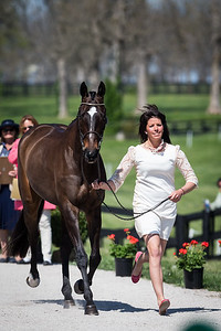 Pirate, and Meghan O'Donoghue, at the Rolex Three-Day Event 4.23.14.