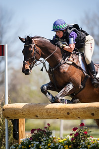 Tsunami, and Sarah Cousins, at the Rolex 3-Day Event 4.26.14.
