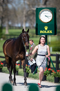 Sir Rockstar, and Libby Head, at the Rolex Three-Day Event 4.23.14.