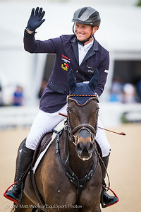 Michael Jung, and Fischerrocana FST, in the Stadium Jumping, win the Rolex 3-Day Event.