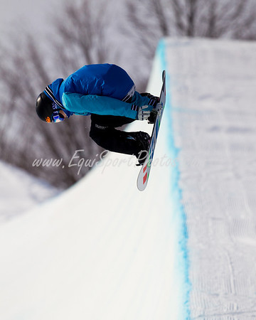 Peetu Piiroinen, standout snowboarder for Team Finland, practicing at the Otsego Club in Gaylord Michigan 02.04.2010