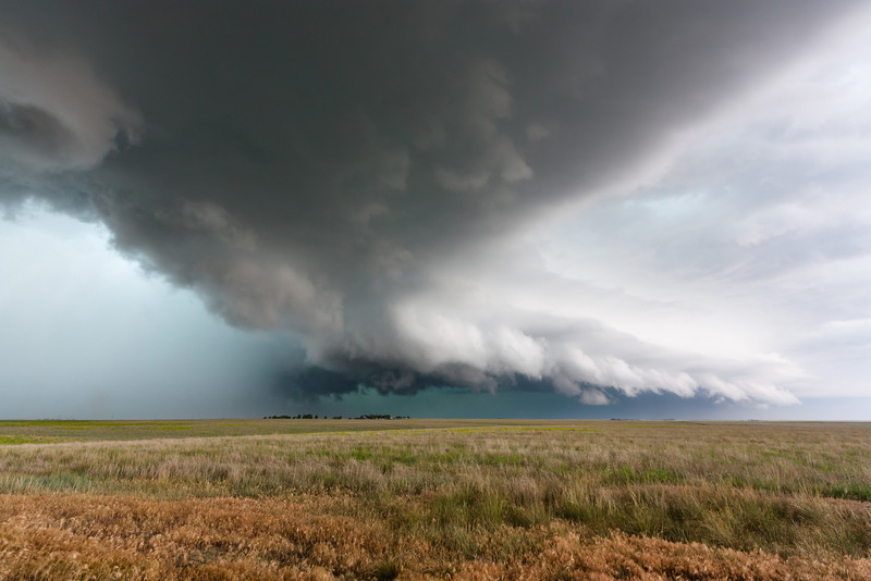 A line of severe thunderstorms bears down near Seibert, CO, on June 11, 2010.