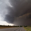 A line of severe thunderstorms bears down on Shamrock, TX, on May 29, 2013.