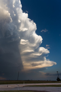 Spectacular wave patterns along the edge of a thunderstorm anvil near Walters, OK, on March 30, 2013.