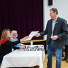 New Hampshire Governor Chris Sununu receives his ballot at the Newfields Town Hall in the 2018 election on Tuesday 11-6-2018, Newfields NH.  [Matt Parker/Seacoastonline]