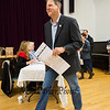 New Hampshire Governor Chris Sununu heads to the voting booth at the Newfields Town Hall in the 2018 election on Tuesday 11-6-2018, Newfields NH.  [Matt Parker/Seacoastonline]