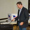 New Hampshire Governor Chris Sununu casts his ballot at the Newfields Town Hall in the 2018 election on Tuesday 11-6-2018, Newfields NH.  [Matt Parker/Seacoastonline]