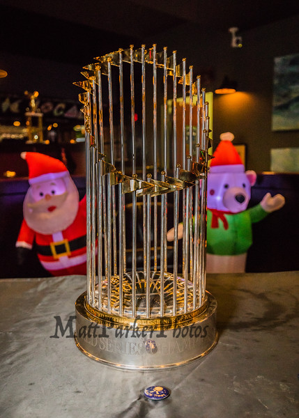 The Community Oven of Hampton in conjunction with Amy's Treat a Dover based 501©3 charity hosted the 2018 Boston Red Sox World Championship Trophy to raise money for cancer patients in the Southern NH and Eastern Maine areas on Thursday 12-6-2018 @ Hampton, NH.  [Matt Parker/Seacoastonline]