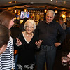 Ellie Whitney with owner John Tinos greets co-workers and friends as they arrive at the Tinos Greek Kitchen/Galley Hatch Restaurant to celebrate her retirement for 44 years at the Galley Hatch on Monday at  on 4-30-2018, Hampton, NH.  Matt Parker Photos