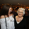 2-1/2 year employee Adreana Dziadosz (L) came to wish Ellie Whitney well during her retirement after her 44 years at the Galley Hatch restauarnt on Monday at Tinos Greek Kitchen/Galley Hatch Restaurant on 4-30-2018, Hampton, NH.  Matt Parker Photos