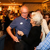 Long time employee Ellie Whitney shares a moment with General Mananger Harry Bobolas who she's worked with for 44 years at Ellie's retirement party on Monday at Tinos Greek Kitchen/Galley Hatch Restaurant on 4-30-2018, Hampton, NH.  Matt Parker Photos