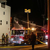 Late Thursday night 3 alarm fire at the SeaWalk Apartments and Laundry on Ashworth Ave, Hampton Beach, NH on 4-5-2018.  Matt Parker Photos