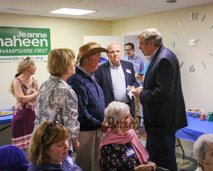 U.S. Senator Jeff Merkley of Oregon (R) discusses the issues facing our country with many of the supporters who came to see him at a meet and greet at the Rockingham County Democrats office on Sunday, May 20, 2018, Exeter, NH.  [Matt Parker/Seacoatonline]