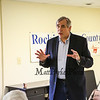 U.S. Senator Jeff Merkley of Oregon talks about alternative and renewable energy sources during a meet and greet at the Rockingham County Democrats office on Sunday, May 20, 2018, Exeter, NH.  [Matt Parker/Seacoatonline]