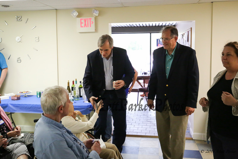 Meet & Greet with Democratic U.S. Senator Jeff Merkley of Oregon on Sunday, May 20, 2018 at the Rockingham County Democrats office in Exeter, NH.  [Matt Parker/Seacoatonline]