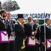 Hampton Academy Cornerstone Ceremony and Dedication by The Masonic Lodge of Masons, SAU90 School Board members and members of the construction groups on Saturday 7-21-2018, Hampton, NH.  Matt Parker Photos