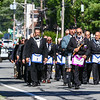 Members of the Masonic Lodge of Masons march down High Street on their way to the Hampton Academy Cornerstone Dedication on Saturday 7-21-2018, Hampton, NH.  [Matt Parker/Seacoastonline]