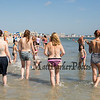 """A group of women walking in the surf at the """"Go Topless Day"""" on Sunday 8-26-2018 at Hampton Beach, NH.  Matt Parker Photos"""