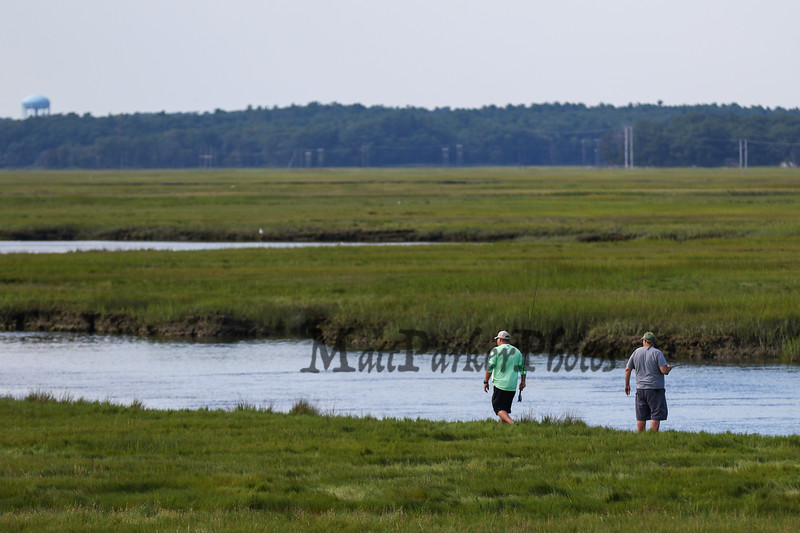 Fishing in the Seabrook-Hamptons Estuary on Sunday 8-26-2018 at Hampton Beach, NH.  Matt Parker Photos