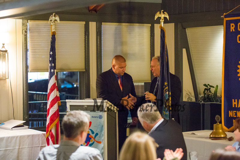 The Rotary Club of Hampton presents the 2019 Distinguished Citizen of the Year to Michael McMahon on Thursday 11-14-2019 @ The Galley Hatch, Hampton NH.  Matt Parker Photos