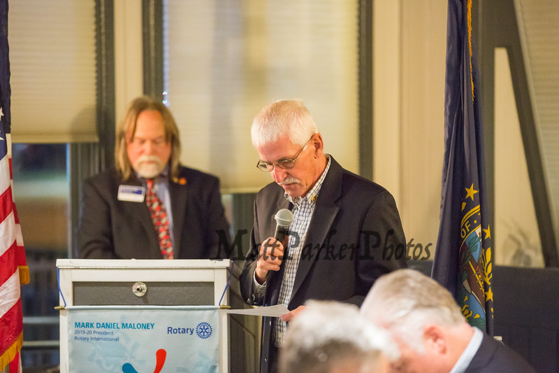 Invocation, Jim Waddell, Board of director, The Rotary Club of Hampton presents the 2019 Distinguished Citizen of the Year to Michael McMahon on Thursday 11-14-2019 @ The Galley Hatch, Hampton NH.  Matt Parker Photos