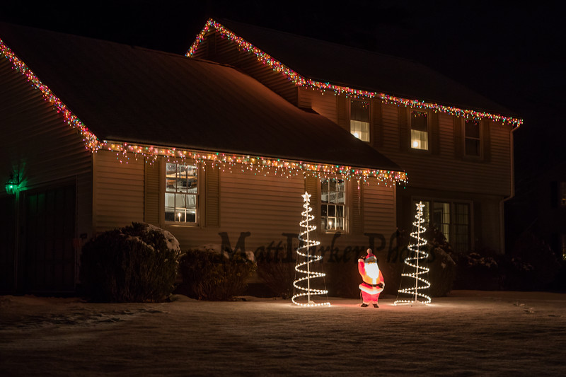 The home of Michelle Wood on Colonial Circle, where her family set up a gingerbread house themed display for the Christmas season on Wednesday 12-18-2019, Glen Hill Hampton, NH.  Matt Parker Photos