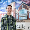 Exeter High School senior Andrew Silsby of Newfields, N.H., was awarded the N.H. Volunteer of the Year Award for his lifelong fundraising efforts for cancer patients, photos taken on Monday 2-18-2019 at Exetet High School.  Matt Parker Photos.