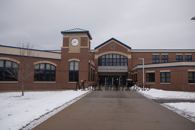 Exeter High School photo taken on Monday 2-18-2019 at Exetet NH.  Matt Parker Photos.