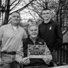 Wayne Vetter (center) with son Christopher (L) and grandson Cameron holding a station photo with his father Charles F. Vetter and grandfather William Linchey celebrating 5 generations of police law enforcement on Monday 5-13-2019 @ Hampton, NH.  Matt Parker Photos