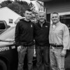 Wayne Vetter (center) with grandson Cameron (L) and son Christopher in front of a NH State Police cruiser celebrating 5 generations of police law enforcement on Monday 5-13-2019 @ Hampton, NH.  Matt Parker Photos