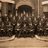 """Old Station photo with Wayne Vetter's greatgrandfather William Linchey (front row center) and father Charles F. Vetter (2nd row 4th from left) celebrating 5 generations of Vetter, Linchey police law enforcement on Monday 5-13-2019 @ Hampton, NH.  """"Philip's photo"""", [Matt Parker/Seacoastonline]"""