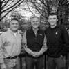 Wayne Vetter (center) with son Christopher (L) and grandson Cameron celebrating 5 generations of police law enforcement on Monday 5-13-2019 @ Hampton, NH.  Matt Parker Photos