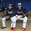 Winnacunnet Baseball pitchers #33 Brady Annis(L) and #30 Ben Allen posing for photos on Monday 5-13-2019 @ WHS.  Matt Parker Photos