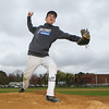 Winnacunnet Baseball pitcher #33 Brady Annis posing for photos on Monday 5-13-2019 @ WHS.  Matt Parker Photos
