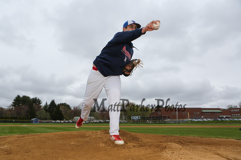 Winnacunnet Baseball pitcher #30 Ben Allen posing for photos on Monday 5-13-2019 @ WHS.  Matt Parker Photos