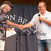 "Russ Conway journalists and Rick Middleton, The Hampton Beach Village District presents ""Nifty"" Night to honor Bruins Hockey great #16 Rick Middleton on Tuesday 7-16-2019 at the Hampton Beach Seashell Stage.  Matt Parker Photos"