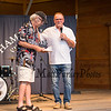 """Russ Conway journalists and Rick Middleton, The Hampton Beach Village District presents """"Nifty"""" Night to honor Bruins Hockey great #16 Rick Middleton on Tuesday 7-16-2019 at the Hampton Beach Seashell Stage.  Matt Parker Photos"""