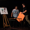 """3c, D'Angelo-Painting, Fun with Scissors--or, So Much Crafts, Matt Merrifield.  Winnacunnet Presents, """"10 Ways to Survive Life in a Quarantine"""", a short comedy by Don Zolidis as performed by the Cast and Crew of Winnacunnet High School and Directed by Patrick Moore on Monday 11-9-2020 @ WHS.  Matt Parker Photos"""