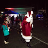 Santa is greated by visitors to the Yankee Fishermen's Cooperative, 2nd Annual Lobster trap Tree Lighting and visit by santa on Sunday 12-13-2020 @ Seabrook Beach, NH.  Matt Parker Photos
