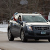 Louise Frink Ramsdell's family and friends celebrate her 100th birthday with a drive-by car parade on September drive, Greenland NH on December 23rd 2020.  Matt Parker Photos