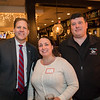 The Airfield Cafe owners Theresa and Scott Aversano pose for a photo with NH Governor Chris Sununu at the North Hampton Business Association Annual Meeting, Tuesday, February 4, 2020 at the Barley House Restaurant, North Hampton, NH.  Matt Parker Photos